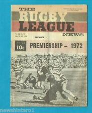 #YY. RUGBY LEAGUE NEWS  -  13-14 May  1972, WESTS & CANTERBURY   COVER
