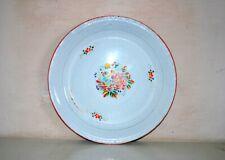 Antique Old Multi Color Floral Islamic Enamel Serving Plate Plate