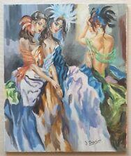 YURI DENISSOV b1962 large original signed canvas oil painting 'Lido Girls'