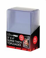 (10) Ultra Pro Super Thick 130pt Toploader Card Holders Great For Patches Relics