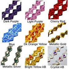WHOLESALE GLASS BEADS FACET BICONE 9 COLORS RED SILVER GOLD CRYSTAL AB  6MM 4MM