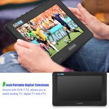 DVB-T/T2 Portable TV Numérique Analogique 1080P Lecteur HD TFT 16:9 9 pouces