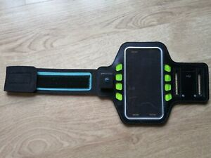 Arm Band Sport Phone Holder Case Run Gym Battery Powered LED Light Jog Mobile