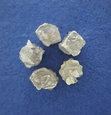 African Natural Rough Diamond Lot 5 PCS 1.48TCW 4-4.5 MM Gray Sparkling for Ring