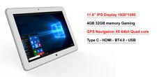 "11.6"" IPS intel X5 8350 2 in1 4GB 32GB Windows 10 GPS Laptop Tablet PC"