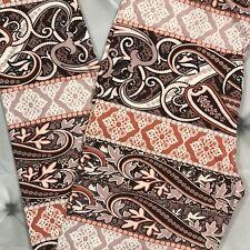 NEW Paisley Swirls Floral Print Buttery Soft Leggings Pants Onesize OS Plus TC