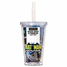 DC Comics Batman Boxers Tumbler Gift Set XL Vintage Batman and Robin