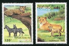 Mint Never Hinged/MNH Congo Wild Animal Postal Stamps