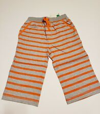 Mini Boden boy orange gray  Baggies Sz 11 shorts stripes