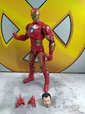 Marvel Legends game verse iron man with Tony stark head and alternate hands