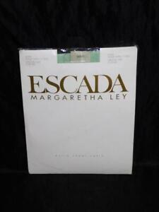 Vtg Escada Mint Green Panty Hose Size 2 L 42 Extra Sheer Satin Nylon NEW M Ley