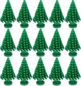 15 Tannen grün für alle Blockspielsysteme wie z.B. Lego® Cobi®, Kazi®, Sluban®