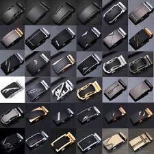 Fashion Men's Automatic Buckle Belt Leather Belt Waist Ratchet Leisure Waistband