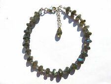 Labradorit facett. Armband 21,5-24,5 cm 925 Silb. Labradorite Bracelet Nr. 3727