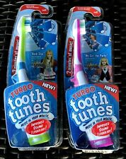 """Turbo Tooth Tunes Toothbrush Hannah Montana """"Rock Star"""" & """"We got the party"""" NEW"""