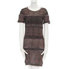 54753cb41a ISABEL MARANT grey open crochet net boho bohemian pullover dress FR36 US4  UK8 S