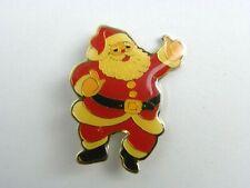 "Santa Claus Thumbs Up Vintage Lapel Pin 1 9/16"" Tall 1 1/4"" Wide"