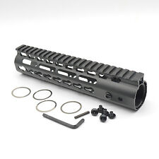 9 inch Ultralight KeyMod Free Float NSR Handguard Rail Mount steel Barrel nut