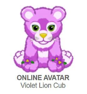 Webkinz Violet Lion Cub Code Only