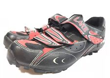 LAKE Cycling Shoes Mens Size 9 43 All Mountain Multi Purpose Black Red M-MX 85