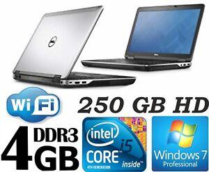 Dell Latitude E6440, INTEL CORE i5  4GB RAM Memory, 250GB HD, Windows 7 Pro