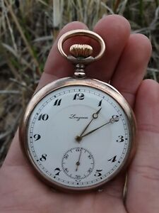 Longines Gold over Silver Pocket Watch.