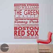 Boston Red Sox Baseball Sports Subway Art Vinyl Wall Decal Sticker