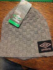Umbro Heritage Youth Knit Skully Beanie Hat Gray