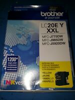 C3~OPEN BOX/SEALED BAG~GENUINE Brother LC20E Y XXL YELLOW  Ink Cartridge