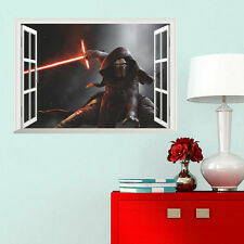 3D Kylo Ren Star Wars Window View Wall Sticker Decal Finish size 50*70 cm