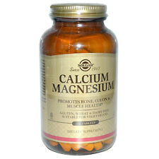 Solgar Calcium Magnesium - 250 Tablets - for Bone, Colon & Muscle Health