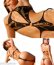 SUNKINI BRAZILIAN LIMITED EDITION 1 PIECE SWIMSUIT CHAINED SIZE SM SALE