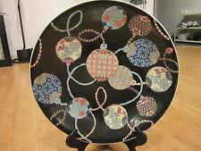 "Large Vintage Chinese Porcelain Plate/Bowl painted in Macau 16 1/4"""