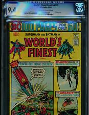 WORLD'S FINEST COMICS  #225 CGC 9.4 100 PAGES 1974 DC COMICS BATMAN AND SUPERMAN