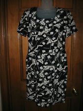 Ladies Spenser Jeremy Petites Geometric Print Silk Dress - Size 10
