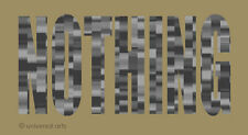 MARIO STRACK - Nothing 2 limitiert Grafik Original signiert Druck Kunst Bilder
