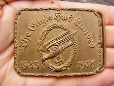 Vtg THE EAGLE HAS LANDED Belt Buckle 1976 Movie CREW Promo WW2 Signed RARE VG++