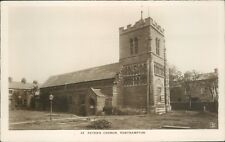 Real photo WHS mayfair series Northampton St peter's church
