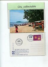 P910 # MALAYSIA USED PICTURE POST CARD * PORT DICKSON WITH SP. CACHET