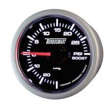 "TurboSmart Boost Gauge Black Face Silver Bezel 0-30psi 52mm - 2 1/16"""