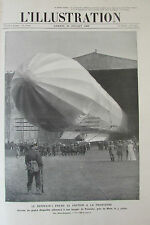 AVIATION AEROPLANE ZEPPELIN DIRIGEABLE ALLEMAND FRESCATY L ILLUSTRATION 1909