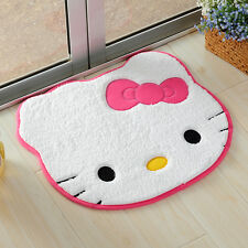 Cute Hello Kitty Pink Bow Floor Mat Rug Plush Door Mat Light Pink 60*50cm