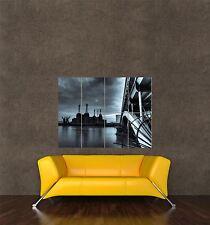 GIGANTE STAMPA POSTER FOTO Cityscape LANDMARK Battersea centrale pdc052
