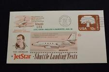 SPACE COVER 1976 MACHINE CANCEL JET STAR SPACE SHUTTLE LANDING TEST #378 (4187)