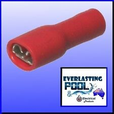 Fully Insulated Female Spade Terminal Connector Terminal 4.8mm Red [10 Pack]