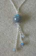 Labradorite Gemstone and Silver Plated Chain Necklace