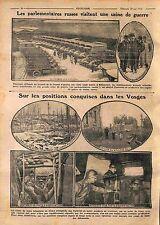 Russia parliamentarians Factory Ammunition Louis Renault/ Front Vosges WWI 1916