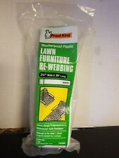 "Frost King Lawn Furniture Re Webbing White/brown stripe. 2 1/4"" wide x 39' long"