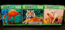 NEW 100 Piece Puzzles - Lot Of 3 Different Animal puzzles-Puzzlebug CraZart