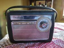 VINTAGE COLUMBIA TRANSISTOR RADIO AM FM SHORT WAVE C-615 PORTABLE 1961 WORKING